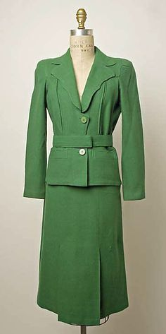 Suit  Marcel Rochas  (French, 1902–1955)  Date: mid-1930s Culture: French Medium: wool    Pretty much my dream suit.
