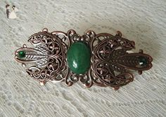 Copper Triple Moon Barrette, handmade jewelry wiccan pagan wicca witch witchcraft goddess metaphysical magic - Bridal fashion accessories (*Amazon Partner-Link)
