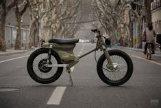 The Shanghai Customs eCub 2 retro electric motorcycle