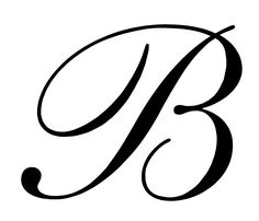 letter B for a gift I'm working on.