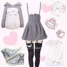 dress anime totoro cute lovely lolita kawaii cardigan blouse shoes leggings tights jacket