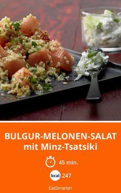 Fruchtiger Salat mit frischem Minz-Joghurt. Perfekt, um den Frühling in der Küche einzuleiten!