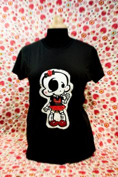 Baby Girl Bones Tshirt by CorazonesRecosidos on Etsy, €26.00