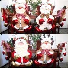 Resultado de imagen para decoracion navideña sillas comedor Christmas Ornaments, Holiday Decor, Crafts, Home Decor, Christmas Decor, Embellishments, Chairs, Vestidos, Chair Back Covers