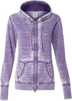 J. America 8913 - Ladies' Zen Fleece Full-Zip Hooded Sweatshirt *** Read more  at the image link.