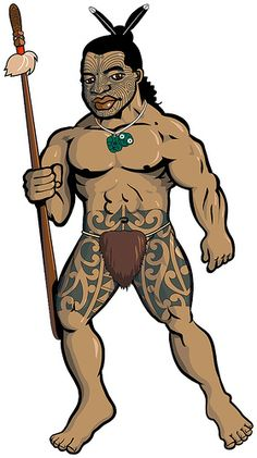 Maori warrior in the Warriors of Polynesia series. na toa maori draft 3 by Goniagnostus, via Flickr