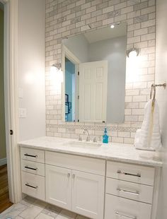 small narrow bathroom floor tile - Google Search