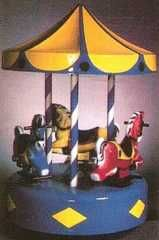 Coin Operated Rides : '3-Horse Carousel' coin-op kiddie ride