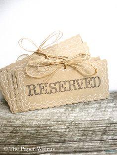 Reserved Wedding Signs - Handmade & Reusable. $3.99, via Etsy.