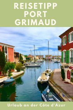 Port Grimaud an der Côte d'Azur ist in der nähe von St. Tropez und einen Ausflug wert: Typisch Südfrankreich, nicht mit großen Sehenswürdigkeiten, aber schön zum Bummeln. Perfekt für den Familienurlaub.
