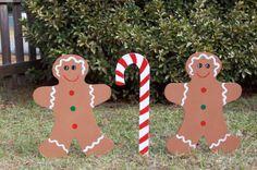 Gingerbread men Yard decorations