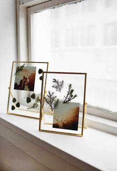 picture frames DIY Pressed Plants Photo Frame - A Beautiful Mess Photo Frame Design, Photo Frame Prop, Photo Frames Diy, Photo Frame Ideas, Photo Frame Decoration, Hanging Picture Frames, Photo Booth, Cadre Photo Diy, Pressed Flowers Frame