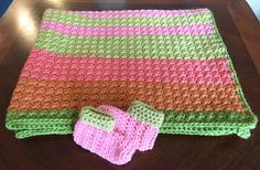 Crochet Afghan Baby Blanket Baby Throw Newborn Receiving with