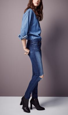 Can never go wrong with a denim-on-denim ensemble.