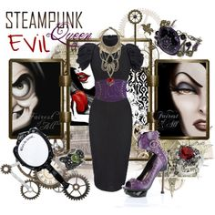Steampunk: Evil Queen by ghsdrummajor on Polyvore featuring Alexander McQueen, Pinup Couture, Disney Couture, Erickson Beamon, claire's and Disney