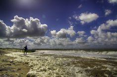 Windsurfen kitesurfen  op de Brouwersdam 14-4-14 Zeeland — bij Gemeente Schouwen-Duiveland. Havenlust.nl