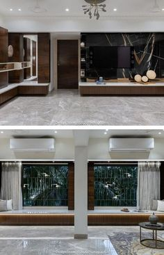 Living Room Sets, Rugs In Living Room, Living Room Decor, Grey Wall Tiles, Grey Walls, Window Treatments Living Room, Apartment Interior Design, Room Paint, Room Rugs