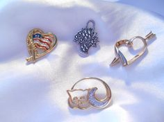 Lot of Avon Tac Pins Forever America Cat Love by Ladysprettys