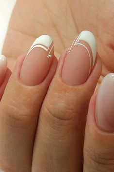 Great The Best Wedding Nails 2019 Trends ★ See more: www.weddingforwar… The Best Wedding Nails 2019 Trends ★ See more: www. Nail Art Designs, Gel Designs, Nails Design, Bridal Nails, Wedding Nails, French Nails, Manicure Natural, Cute Nails, My Nails