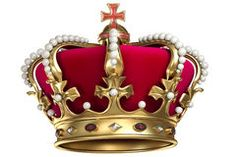 Gold crown with gems Royalty Free Stock Photos