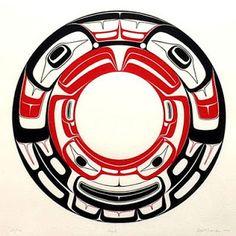 R davidson Haida art Native American Totem, Native American Design, Native Design, American Indian Art, Haida Kunst, Haida Art, Art Haïda, Tatouage Haida, Haida Tattoo