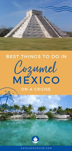 Best Things to Do in Cozumel Mexico | If you're dreaming of and planning a future cruise or travel to Cozumel, Mexico, then you don't want to miss this post. Here we outline all of the best things to do while visiting this cruise port. From adventure and beaches to ancient ruins and food, you'll find something for everyone with pictures too. Check out this post and you'll be ready to book your excursions as soon as travel resumes! #Cozumel #Mexico #MexicanCruise #CruiseVacation #Excursions Bermuda Vacations, Bahamas Vacation, Jamaica Travel, Mexico Vacation, Cruise Vacation, Mexico Travel, Cruise Port, Cozumel Mexico, Cancun