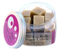 Erin's SALE - Brown Sugar & Fig Bath Sugar Cubes, $9.95