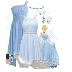 Outfit inspired by Cinderella. Cinderella Outfit, Disney Princess Outfits, Cute Disney Outfits, Disney Themed Outfits, Disney Bound Outfits, Disney Dresses, Cute Fall Outfits, Disney Inspired Fashion, Character Inspired Outfits