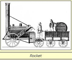 1824: First steam locomotive to carry passengers on a public rail-line, the Locomotion No. 1, built by Robert Stephenson (1803–1859), son of George Stephenson. 1829: Stephenson's Rocket built by George Stephenson (1781–1848) and his son Robert Stephenson (1803–1859); the Rocket was not the first steam locomotive, but it was the first to bring together several innovations to produce the most advanced locomotive of its day  - Wikipedia, the free encyclopedia