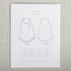 Tank Sewing Pattern XS/S/M | Fancy Tiger Crafts