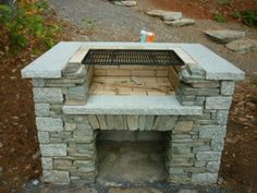 You may actually be able to use your patio every now and then if you wish to. Here are a couple of outdoor patio ideas that will the transition to the winter season Backyard Fireplace, Backyard Patio, Backyard Landscaping, Outdoor Oven, Outdoor Cooking, Brick Grill, Wood Grill, Stone Bbq, Grill Stone