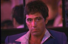 "Al Pacino in ""Scarface"" directed by Brian De Palma, 1983 1980s Films, 80s Movies, Al Pacino, Scarface Movie, Classy Aesthetic, Michelle Pfeiffer, The Other Guys, Tough Guy, Book Tv"