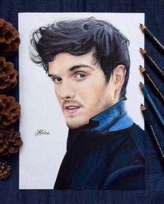 drawing of Daniel sharman tags: daniel sharman the originals teen wolf hodarts art prismacolor