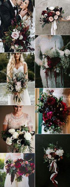 trending moody wedding bouquet ideas #weddingflowers #weddingbouquets #weddingideas