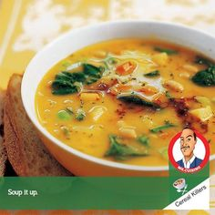Winter Vegetable Soup. It's getting cold. Try this healthy soup. Potatoes, squash, and white beans combine for a substantial main-dish soup that is low in calories and saturated fat. #CerealKillers #MrCuisino