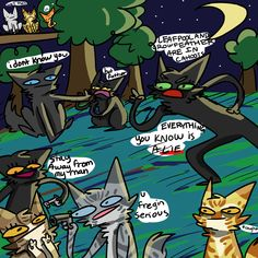 rule lady exposes her own family (CoLLab) by BurntShady on DeviantArt Warrior Cats Funny, Warrior Cats Comics, Warrior Cat Memes, Warrior Cats Fan Art, Warrior Cats Series, Warrior Cats Books, Warrior Cat Drawings, Cat Comics, Funny Animal Memes