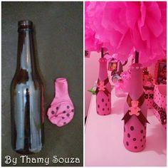 Montando minha festa: Garrafa decorada com balão passo a passo + ideias