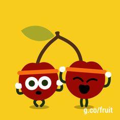 Conoce más acerca de los Doodle de Juegos de Frutas en g.co/fruit #GoogleDoodle