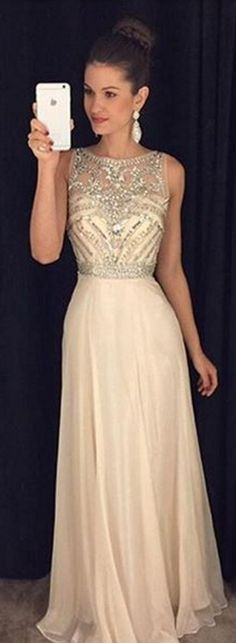 Blue Prom Dresses,Chiffon Prom Gown