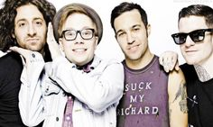 "I love how Pete is wearing a shirt that says ""suck my Richard"" but we all know what that means"