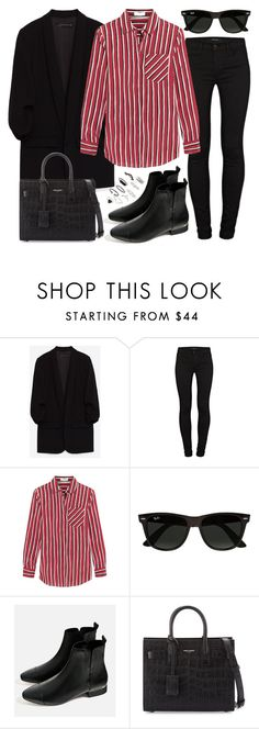 """Untitled #2647"" by briarachele ❤ liked on Polyvore featuring J Brand, Altuzarra, Ray-Ban, Yves Saint Laurent and Topshop"