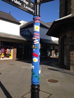 Yarn bomb in Haverfordwest