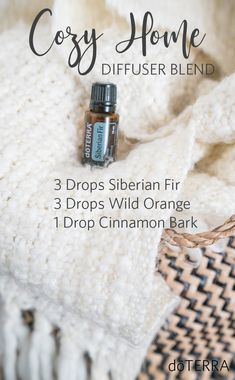 Cozy up your home this season with this relaxing diffuser blend!