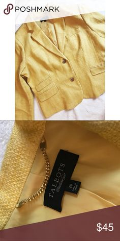 Talbots • Yellow Tweed Blazer Talbots • Yellow Tweed Blazer. Size 20. Great condition! Talbots Jackets & Coats Blazers