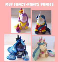 My Little Pony Princess/Fancy Pony 25 Sculpey by IcyPanther, $7.00