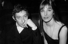 Serge Gainsbourg et Jane Birkin et Serge Gainsbourg à la premiere de Gilbert Becaud à l'Olympia le 21 fevrier 1969 .
