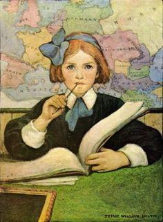 """""""The Scholar"""" by Jessie Wilcox Smith, via @Max Macias"""