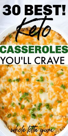 The BEST 30 keto casserole recipes that make easy dinners. Whether you want keto chicken casserole beef casserole Mexican casseroles or make ahead casseroles for meal prep these easy keto dinners will help. Gluten freelow carb and healthy casseroles too. Healthy Recipes, Ketogenic Recipes, Low Carb Recipes, Diet Recipes, Chicken Recipes, Ketogenic Diet, Cheap Recipes, Soup Recipes, Sweets Recipes