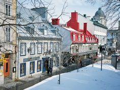 Winter on rue Sainte-Anne (Saint Anne Street), Quebec City, Quebec