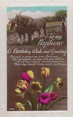 Farm #horses #farming farmer nephew happy birthday #antique real photo old postca,  View more on the LINK: http://www.zeppy.io/product/gb/2/381571070332/
